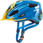 Juniorská cyklistická helma Uvex quatro junior, blue-yellow 2019
