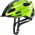 Juniorská cyklistická helma Uvex quatro junior, neon yellow 2019
