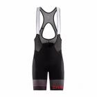 Cyklistické kalhoty Craft Route Bib černé s červenou 1906091-999430