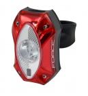 Zadní světlo na kolo Force Red, 1cree led 60lm, USB