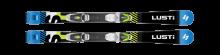 Dětské sjezdové lyže LUSTI JS junior sport + vázání VIST Junior 4,5 nebo VIST Junior 7,5, černé,  2019/20