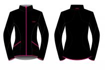 Běžecká bunda dámská KV+ Karina 20V120.1 black/pink 2020/21