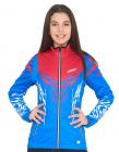 Běžecká bunda dámská KV+ Tornado blue/pink 20V107.2 2019/20