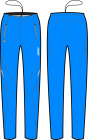 Běžecké kalhoty dámské KV+ Exclusive 8V108.2 blue 2020/21