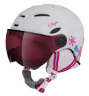 Dětská lyžařská helma Etape Rider Pro bílá/růžová 2020/21