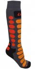 Dětské lyžařské ponožky Lenz Ski kids 1.0 šedo/oranžové