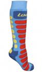 Dětské lyžařské ponožky Lenz Ski kids 1.0 modro/oranžové