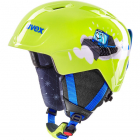 Dětská sjezdová helma UVEX Manic, lime caterpillar 2019/20