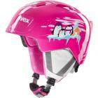Dětská sjezdová helma UVEX Manic, pink penguin 2019/20