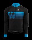 Cyklistický dres dlouhý rukáv Kalas Motion Z 2032-086x černo modrý 2021