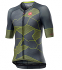 Cyklistický dres Castelli Climber´s 3.0 dark grey yellow fluo 2020