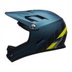 Cyklistická helma Bell Sanction mat blue/Hi-Viz 2020
