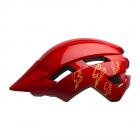 Dětská cyklistická helma Bell Sidetrack II youth red bolts 2020