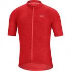 Cyklistický dres Gore C3 jersey red 2020
