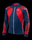 Cyklistický dres Kalas Titan X8 zatepený-dlouhý rukáv, červeno-modrý 2018