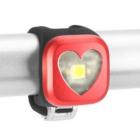Blikačka KNOG Blinder 1 Srdce,přední - červená