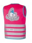 Dětská reflexní vesta Wowow crazy monster pink