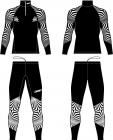 Běžecká kombinéza KV+ Lahti two pieces suit black/white 21V118-10 2020/21