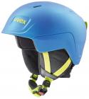 Dětská sjezdová helma Uvex Manic Pro blue/lime met mat 2020/21