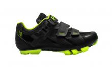 Tretry - boty na MTB kolo FLR F65 Black/neon yellow 2021