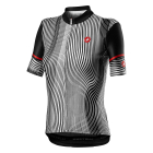 Cyklistický dres Castelli Illusione jersey black/white 2021