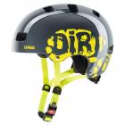 Dětská cyklistická helma Uvex Kid 3 dirt bike grey lime 2021