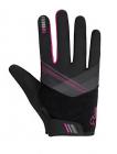 Cyklistické rukavice prstové dámské Etape Paola Magenta/černá