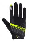 Cyklistické rukavice prstové Etape Spring černá/žlutá fluo