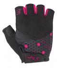 Dámské cyklistické rukavice Etape Betty černo-růžové