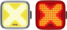 Set (přední a zadní) světel na kolo Knog Blinder black Twinpack X