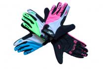 Dětské cyklistické rukavice dlouhoprsté 3F vision 2122 neon tyrkysová