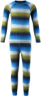 Dětské termoprádlo Reima Taival modro-zelené (triko+kalhoty)