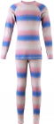 Dětské termoprádlo Reima Taival růžovo-modrá (triko+kalhoty)