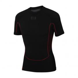 Termoprádlo 1. vrstva Sportful 2nd skin triko krátký rukáv 0800286/002 černý 2017/18