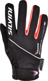 Běžecké rukavice dětské Silvini ORTLES black-punch CA1139-0892
