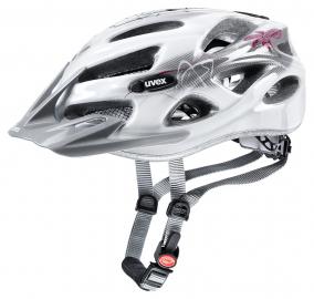 Cyklistická helma Uvex Onyx lady line, bílo-červená 2018
