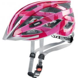 Cyklistická helma Uvex I-VO C, dark pink shiny 2018