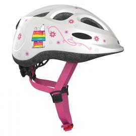 Dětská cyklistická helma Abus Smiley Peanuts, bílá Lovely
