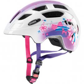 Dětská cyklistická helma Uvex Finale junior, pink girl