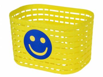 Koš dětský barevný žlutý Smile