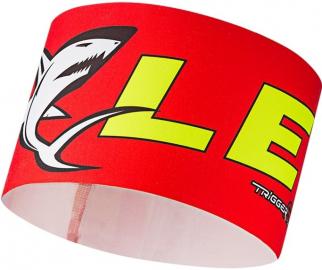 Čelenka Leki Race shark headband red-yellow