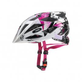 Cyklistická helma Uvex Air wing, white-pink 2019