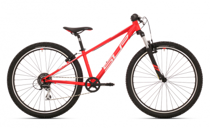 Juniorské jízdní kolo Superior Racer 27 MATTE NEON RED/ WHITE/ DARK RED 2019