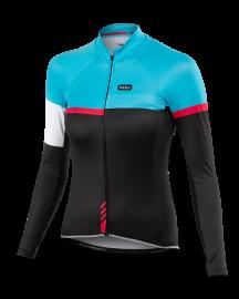 Cyklistický dres Kalas Passion X9 dlouhý rukáv tyrkys 2034-072