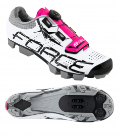 Tretry - boty na kolo MTB Force Crystal, white-pink 2019