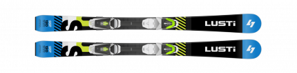 Dětské sjezdové lyže LUSTI JS junior sport + vázání VIST Junior 4,5, černé, 2019/20