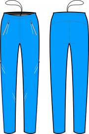Běžecké kalhoty KV+ Pants Premium 9V146.2 modré 2019/20
