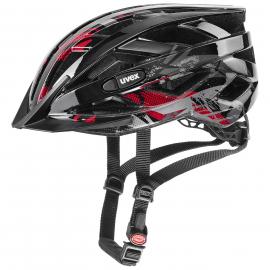Cyklistická helma Uvex air wing black red 2020