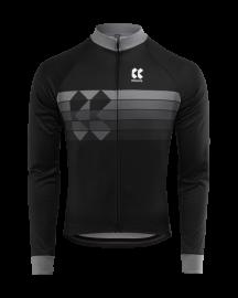 Cyklistický dres dlouhý rukáv Kalas Motion Z černý 2020