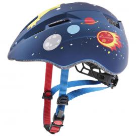 Dětská cyklistická helma Kid 2 CC, Dark blue rocket mat 2021